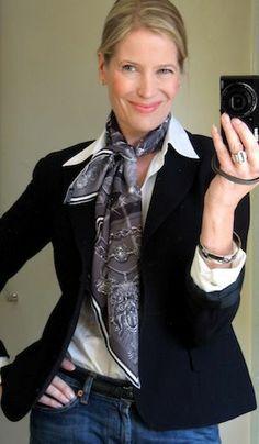 Hermes scarf look