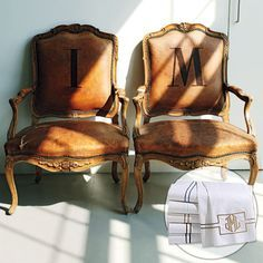 monogram leather chair - Google Search