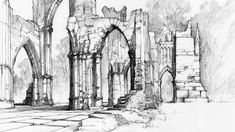Gothic Ruins by ~micorl on deviantART