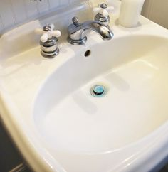 Bathroom ideas on pinterest bathroom vanities and tiny - How to remove stains from bathroom sink ...
