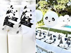 Essa festa de panda foi produzida com poucos itens criativos e alguns doces decorados. Veja como reproduzir essa festa na sua casa!