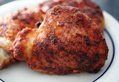 Smoked Paprika Chicken Thighs - smoked paprika, garlic powder, cumin, cayenne, olive oil, salt and pepper