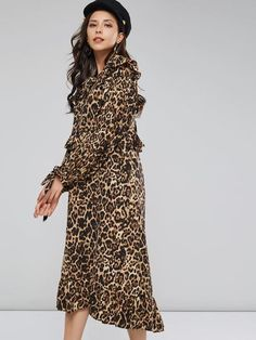 Silhouette: Straight Dress Length: Knee-Length Sleeve Length: Long Sleeve Neckline: Round Neck Combination Type: Single Closure: Pullover Pattern: Leopard Embellishment: Patchwork,Print Style: Western *@* Size Dress Length Bust Waist Sleeve Length cm inch cm inch cm inch cm inch One Size 115 45.3 110 43.3 106 41.7 57 2 Straight Dress, Fashion Prints, Wrap Dress, High Neck Dress, Pullover, Long Sleeve, Sleeves, Witches, Women's Dresses