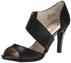 AK Anne Klein Women's Opted Leather Dress Pump, Black
