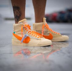 4f70577d3470a Off-White X Nike Blazer Mid All Hallows Eve OW Canvas/Total Orange-Pale  Vanilla-Black Classic Skateboarding Shoes New Year Deals