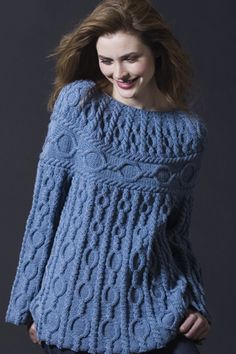 Zara Cabled Tunic as seen in Interweave Knits - free