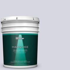 BEHR MARQUEE 5 gal. #MQ3-59 Will O the Wisp One-Coat Hide Semi-Gloss Enamel Interior Paint