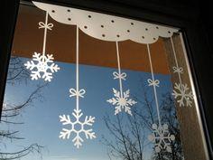 Śnieżynki naklejka na okno (proj. Pracownia Nitki)