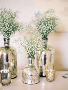 DIY Wedding Centerpieces - DIY Mercury Glass Centerpiece Vases - Do It Yourself Ideas for Brides and Best Centerpiece Ideas for Weddings - Step by Step Tutorials for Making Mason Jars, Rustic Crafts, Flowers, Modern Decor, Vintage and Cheap Ideas for Couples on A Budget Outdoor and Indoor Weddings http://diyjoy.com/diy-wedding-centerpieces @craftsy