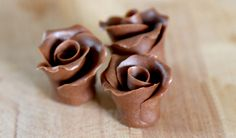 Chocolate Fondant Roses (with video)