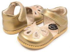 Livie & Luca Petal Shoes - Gold Metallic Leather
