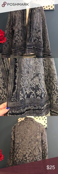 Coldwater Creek NWOT embroidered Blazer 🌺 New without tags. 40 inch bust 24 inches long. Nonclosure front. Beautiful blazer. Coldwater Creek Jackets & Coats Blazers