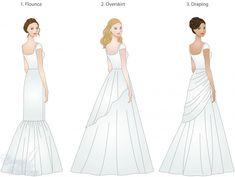 skirt types for modest wedding dresses, modeled by WeddingLDS.com's signature brides