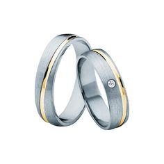 SAVICKI - Obrączki ślubne: Obrączki z dwukolorowego złota (662/BZ/5/MR/L/1x0,02) - Biżuteria od 1976 r.