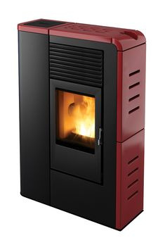Flat pellet stove by MCZ