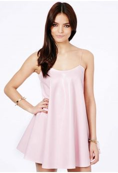 Nimesa Faux Leather Strappy Swing Dress - Dresses - Missguided