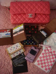 What's in your CHANEL bag today? - Page 16 - PurseForum What In My Bag, What's In Your Bag, What's In My Purse, Chanel Bags, Bag Organization, Leather Pouch, You Bag, Purse Wallet, Hermes