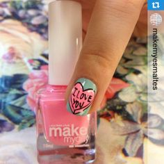 #Repost @makemyesmaltes #notd #npa #nails #design #iloveyou #karina #thn #qlccq#mkmyday #nailart #nailpolish #love # # ❤️