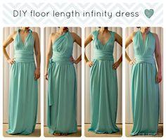 DIY Infinity Dress Pattern Draft - Original Tutorial Is A Cute Knee Length