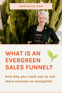 Learn how to create an evergreen sales funnel to sell more courses on autopilot. Read the blog to find out more - for online entrepreneurs and course creators. #digitalmarketing #entrepreneurship #mariahcoz