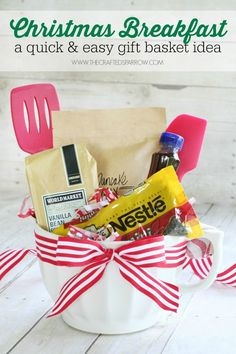 I love the idea of giving family and friends a gift basket for Christmas…
