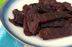 Spicy Chili Beef Jerky. Easily the best jerky recipe ever!