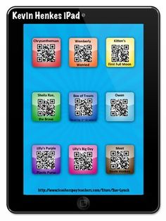Kevin Henkes iPad~Listen to Reading by using a QR Code!  Lilly's Purple Plastic Purse, Chrysanthemum and much more!