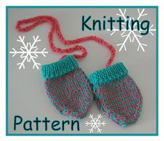 Baby mittens knitting patterns Baby clothes by DeborahGraceDesigns