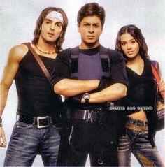 With Zayed Khan who played Lakshman Prasad Sharma (Lucky) and Amrita Rao. Shah Rukh Khan Movies, Shahrukh Khan, Main Hoon Na, Zayed Khan, Superstar, Amrita Rao, Kuch Kuch Hota Hai, Star Wars, Heart Beat