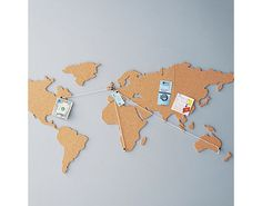 Travel Memories Map Draw A Map On A Cork Notice Board Resize - Us map pinboard