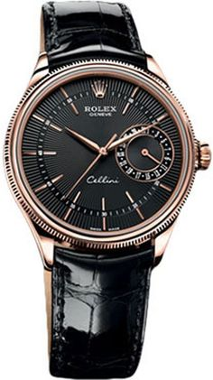 Brand New Discounted Rolex Cellini Date Black Dial Mens Watch 50515 Guaranteed Authentic