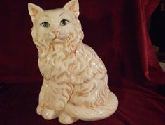 Урожай белый фарфор кошка статуэтка с curiodebris на Etsy