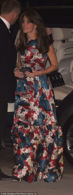 Kate Middleton wears Erdem dress to 100 Women in Hedge Funds dinner | Daily Mail Online