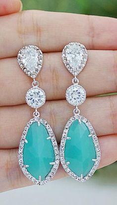 Aqua earrings!