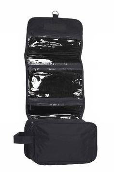 94400512c25e Black hanging toiletry bag for men   women for travel   storage many pockets