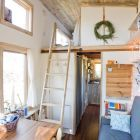 Tiny House: A 240 sq. ft. house built on an 8' x 20' flatbed trailer with wheels - read the charming story!