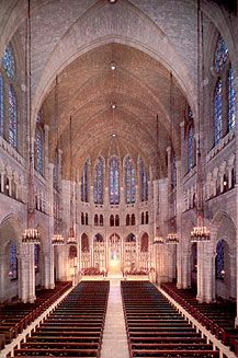 Wedding venues at Riverside Church in New York.