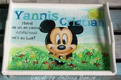 Tavita mikey cu 3d Four Square, Babys, Lunch Box, Babies, Newborn Babies, Baby Baby, Infants, Baby