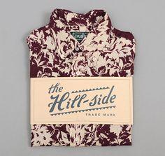The Hill-Side Short-Sleeve Shirt, Washed Linen Floral Print, Burgundy