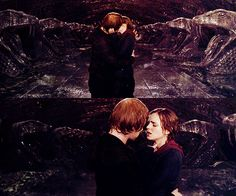 ron weasley and hermione granger | The Kiss #Ron Weasley #Hermione Granger #deathly hallows