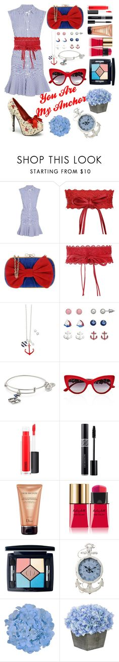 """""""You Are My Anchor"""" by shewalksinsilence ❤ liked on Polyvore featuring Veronica Beard, RED Valentino, Avon, Alex and Ani, Dolce&Gabbana, MAC Cosmetics, Christian Dior and Yves Saint Laurent"""