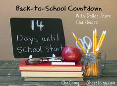 The Dollar Store Diva: Back-to-School Countdown for $1