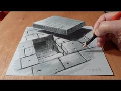 3D Drawing Tunnel Stairs, Anamorphic Illusion, Time Lapse - YouTube