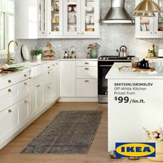 IKEA Kitchens IKEA SEKTION kitchens can be customized by selecting the style and colour you like from thousands of combinations.IKEA SEKTION kitchens can be customized by selecting the style and colour you like from thousands of combinations. Eat In Kitchen, Home Decor Kitchen, Interior Design Kitchen, Diy Kitchen, Home Kitchens, Ikea Kitchens, Kitchen Storage, Ikea Kitchen Organization, Mens Kitchen