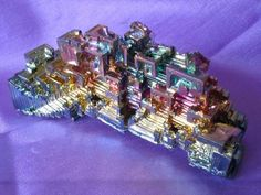 Bismuth - Rainbow colours of Supercooled Bismuth crystals.