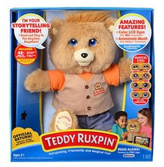 Teddy Ruxpin - the official return! Teddy Ruxpin is back–smart, innovative, cuddly, and more magical than ever! Parents and grandparents will remember everyone's favorite storytelling bear from the WINNER Infant/Toddler Toy of the Year Teddy Ruxpin, Teddy Bear, Interactive Toys, Toddler Toys, Baby Toys, New Toys, Story Time, Cool Toys, Gifts For Kids