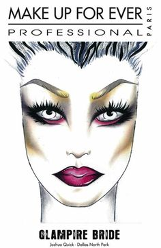 Funny Face Beauty: Makeup Forever Hallowe'en Face Charts: Part One