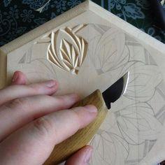 Chip carving (pattern by Tatiana Baldina)