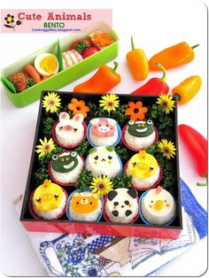Cute Animals Bento by Cooking-Gallery, via Flickr