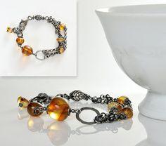 Baltic Amber Amber Bracelet Honey Amber Beads by AnnaBujak on Etsy